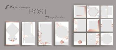 Design backgrounds for social media banner.Set of instagram stories and post frame templates.Vector stories cover. Mockup for personal blog or shop. Endless royalty free illustration