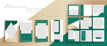 Design backgrounds for social media banner.Set of instagram stories and  post frame templates.Vector cover. Mockup for personal blog or shop.Layout for stock illustration