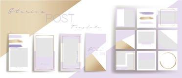Design backgrounds for social media banner.Set of instagram stories and post frame templates.Vector cover. vector illustration