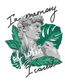 Sculpture tropical slogan. Perfect for decor vector illustration
