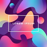 Vector Colorful Fluid Style Geometric Background. Gradient Fluid Shapes. Futuristic trendy dynamic elements. royalty free illustration