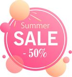 Summer sale - modern design of banners stock illustration