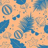 Seamless vector pattern wit some deach items stock illustration