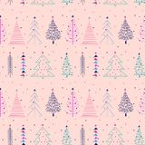 Seamless pattern with Christmas tree. royalty free illustration