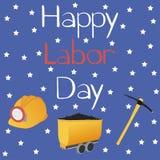 Happy Labor Day greeting card. royalty free illustration