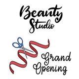 Beauty studio lettering vector illustration royalty free illustration