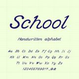School. Handwritten alphabet. Vector illustration. vector illustration