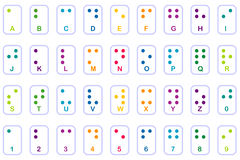 основы braille цветастый Стоковая Фотография RF