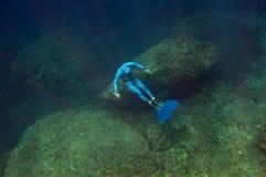 оснуйте море freediver Стоковые Изображения RF