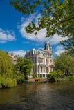 Особняк в Амстердаме Стоковые Изображения RF