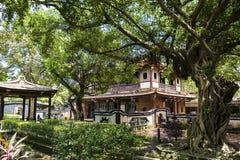 Особняк и сад семьи Lin Бен-юаней визируют взгляд Стоковые Фотографии RF