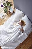 оставаться кровати Стоковое Фото