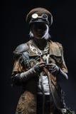 Оставшийся в живых женщины апокалипсиса столба Стоковая Фотография