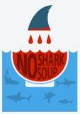 Остановите акулу finning также вектор иллюстрации притяжки corel Стоковые Изображения RF