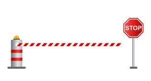 Остановите барьер дороги, Стоковые Фото