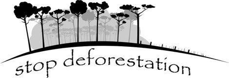Остановите валить дождевой лес Стоковые Фото