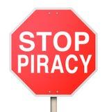 Остановите вебсайты словоизвержения интернета совместного пользования файлами пиратства противозаконные иллюстрация вектора
