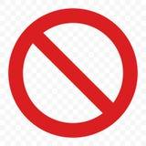 Остановите вектор знака никакой пропуск входа предупреждая красный значок бесплатная иллюстрация