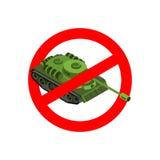 остановите войну Запрещенные военные действия Красный знак запрета Cros Стоковое фото RF
