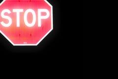 Остановите левую сторону знака верхнюю Стоковая Фотография RF