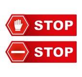 Остановите знаки иллюстрация вектора