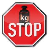 Остановите знак никакое увеличение веса Стоковое Изображение RF