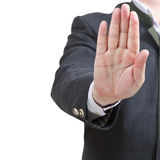 Остановите знак одной открытой ладонью - жест рукой Стоковые Изображения RF