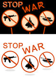 Остановите знамя войны Стоковое Изображение