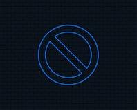 остановите значок знака Символ запрета иллюстрация вектора