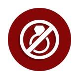 Остановите или запретите замужество, запрещенный значок знака в стиле значка Одно значка собрания спада можно использовать для UI бесплатная иллюстрация