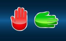 Остановите и пойдите знаки руки Стоковые Фотографии RF