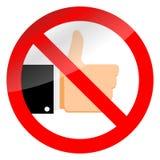 Остановите как средства массовой информации social знака и запрета иллюстрация вектора