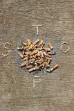 Остановите курить немедленно! стоковое фото rf