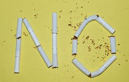 Остановите курить стоковые изображения rf
