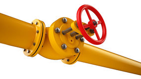 Остановите клапан и трубу Стоковое Изображение RF