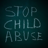 Остановите насилие над ребенком Стоковое Фото
