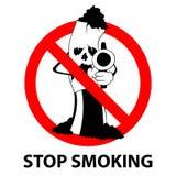 Остановите не курить никакую концепцию знака запрета дня табака бесплатная иллюстрация