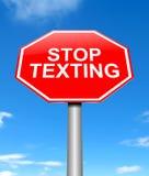 Остановите отправить СМС концепция Стоковое фото RF