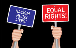 Остановите расизм стоковые фото