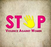 Остановите расправу против женщин стоковые изображения