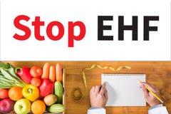 Остановите стоп EHF EHF (лихорадки Ebola геморрагической) (Ebola геморрагический f Стоковое Изображение RF