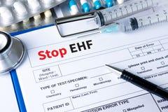 Остановите стоп EHF EHF (лихорадки Ebola геморрагической) (Ebola геморрагический f Стоковое Изображение