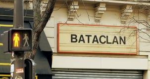Остановите театр Париж Bataclan красного света видеоматериал