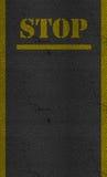 Остановите текстуру дороги шоссе асфальта знака Стоковое фото RF