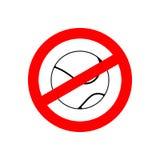 Остановите теннис Запрещенная игра команды Красный знак запрета пересечено иллюстрация штока