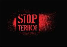 остановите террор Типографский плакат протеста граффити также вектор иллюстрации притяжки corel Стоковая Фотография