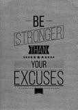 Остановите driming делать старта Вдохновляющий плакат цитаты Стоковая Фотография