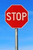 Остановите roadsign Стоковые Изображения