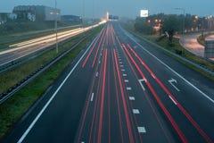 Останьтесь в вашей майне, шоссе на ноче Стоковые Изображения RF
