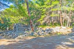 Остатки агоры Domitian в Phaselis, Tekirova, Турции Стоковое Изображение RF
